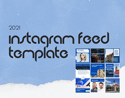 Instagram feed template / Шаблон дизайна ленты