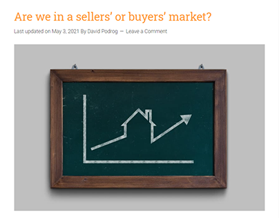 Are we in a sellers' or buyers' market?