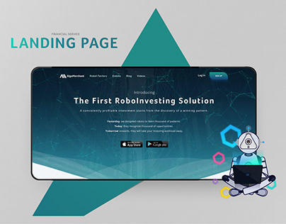 Algomerchant- Financial Service- Landing page