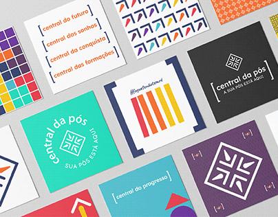 Branding Visual Identity Central da Pós