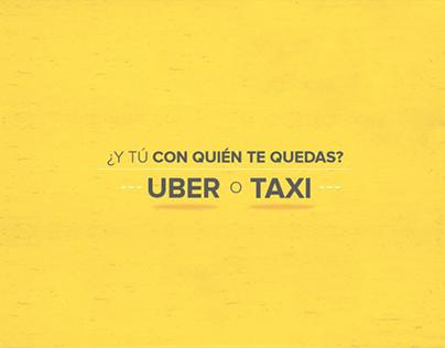Infografía UBER vs TAXI