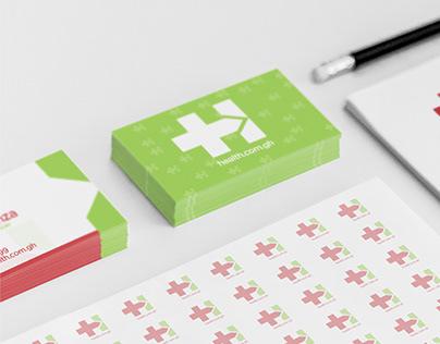 Health.com.gh Logo Design