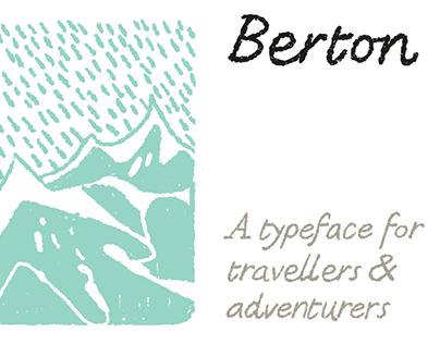 BERTON Free Typeface - A font for adventurers