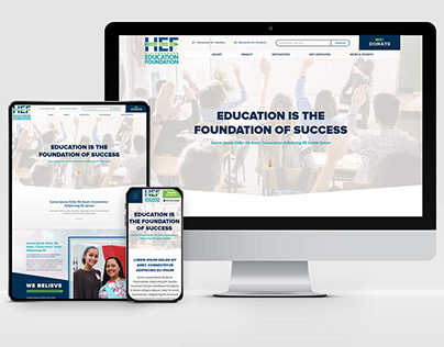 Hillsborough Education Foundation Responsive Design