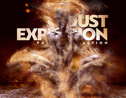 Dust Explosion Photoshop Action CS3+