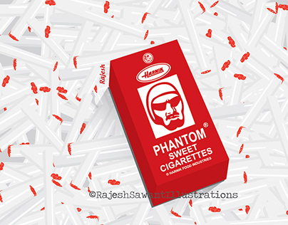 Phantom sweet candy cigarettes