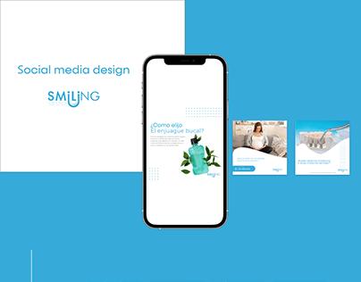 Social media design - Smiling Clinica dental