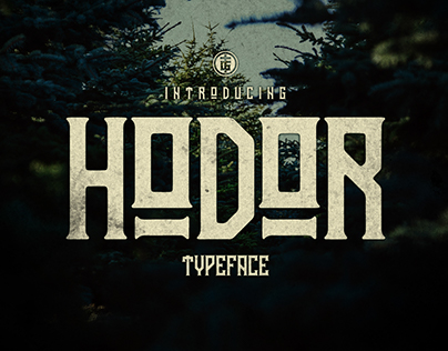 Hodor   Font inspired by Game of Thrones