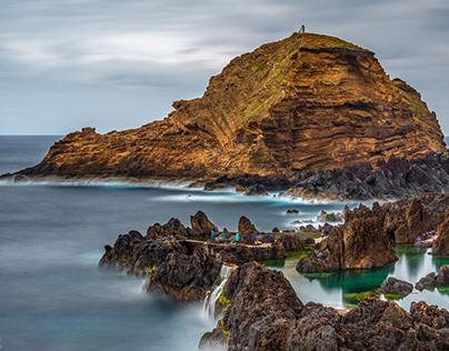 Madeira Island Lava Pools - long exposure shots