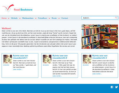 Website ontwerp Read Bookstore