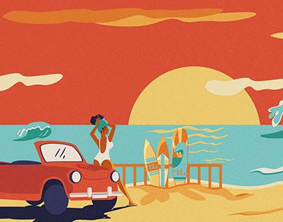 Cuba 70's. Ilustración