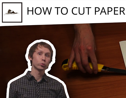 How to cut paper with a knife properly