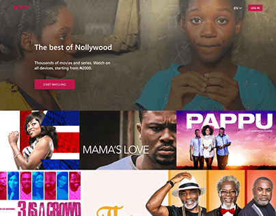 IrokoTV - movie website design