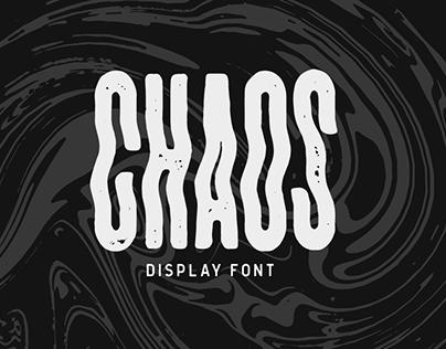 CHAOS Display Font