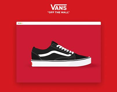 Vans – website redesign concept