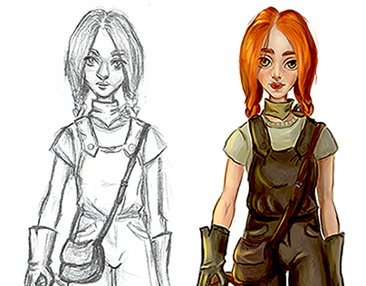 Game character concept art
