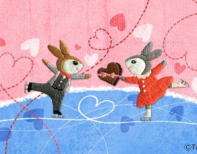 うさぎスケート / Rabbit-skating