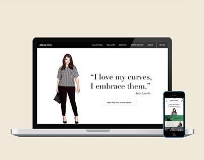 Elena Miro -- Responsive website