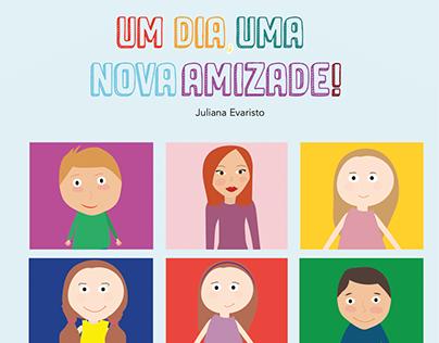 """""""Um dia, uma nova amizade"""" - Livro sobre língua gestual"""
