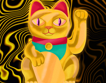Golden Maneki Neko