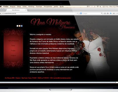 Site e material de divulgação Nina Molinero - Flamenco