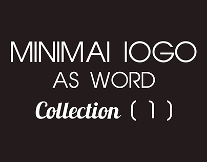minimal logos as word Collection (1)