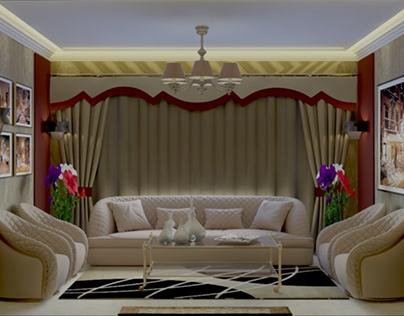 interior design for a residential reception