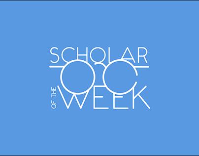 Scholar of the Week Logo Design