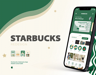 Redesign Starbucks Indonesia Mobile App UI/UX