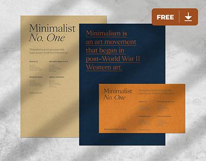Branding Mockup Freebie - Minimalist No.1