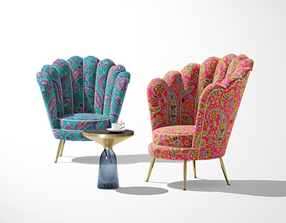Glory Paisley-Pink and Turquoise Palettes.