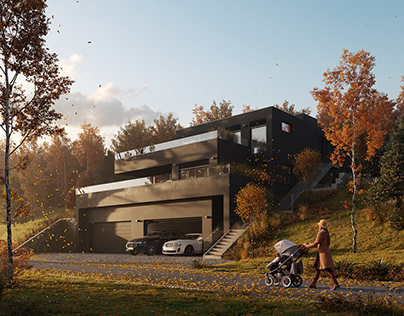CGI: Residential building in Switzerland