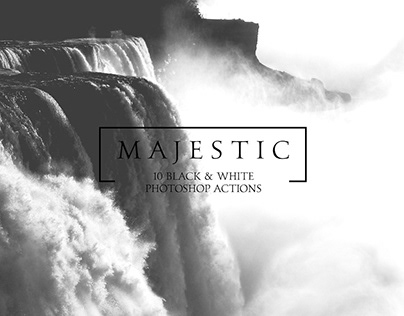 Majestic – Black & White PS Actions By:Rachel Irving