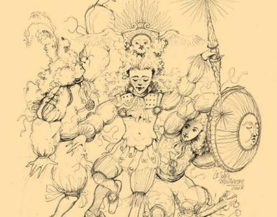 Baroque illustration sketch