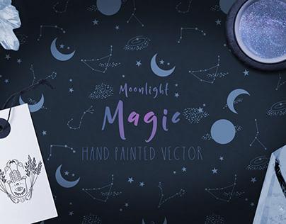 Moonlight Magic Vector Graphics