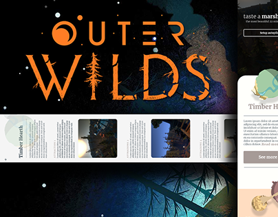 Outer wilds travel agency - website (Personal exercise)