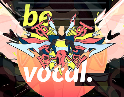 Be Vocal | Abstract Poster