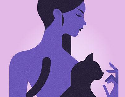 La femme au chat