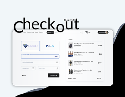 Checkout - Ecommerce Page - UI/UX