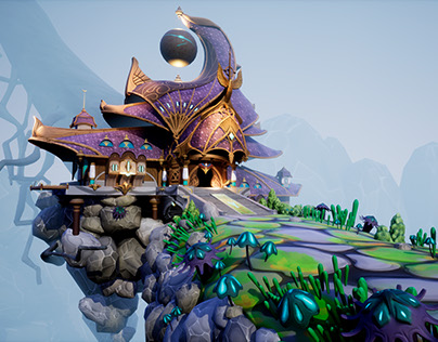 Elven Inn - Polycount environment challenge Sep-Oct2017