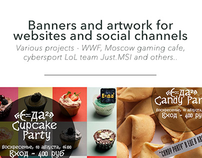 Web banners and artwork for Social Media