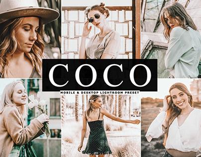 Free Coco Mobile & Desktop Lightroom Preset