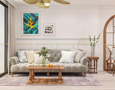 Thiết kế nội thất chung cư Sky Lake- Chị Nga