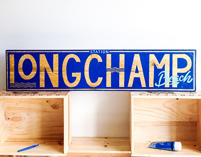 // Sign Painting Longchamp Beach //