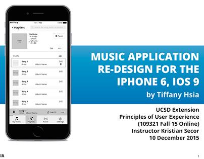 Music Application Re-Design