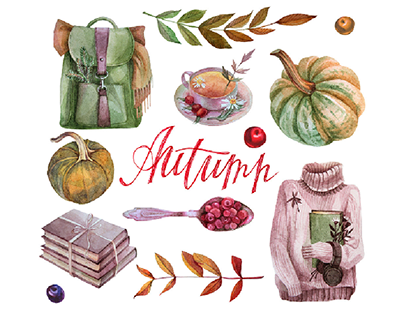 Autumn. Watercolor mood