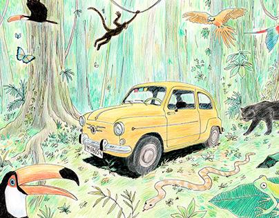 600 Amarillo en el Amazonas