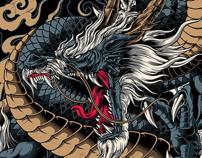 DRAGON RYUJIN | God of the Sea | Commission Project.