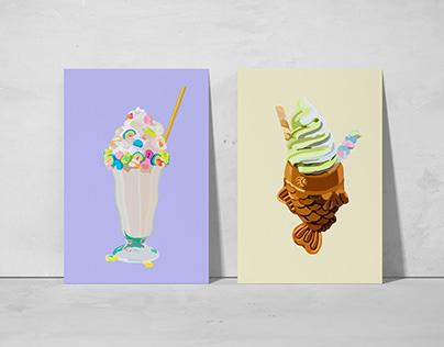 Ilustración Digital: Postres