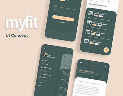 myfit UI concept design